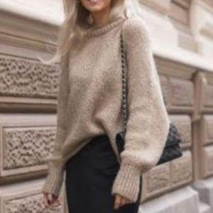 Black silky mini skirt